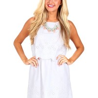 This Is Love White Floral Eyelet Dress | Monday Dress Boutique