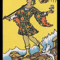 Mature Religion The Fool Occult Divination Rider Major Arcana Tarot Card Giclée Printed Art Sew on 2 x 3in Twill Back Patch-es Free S/H MBG