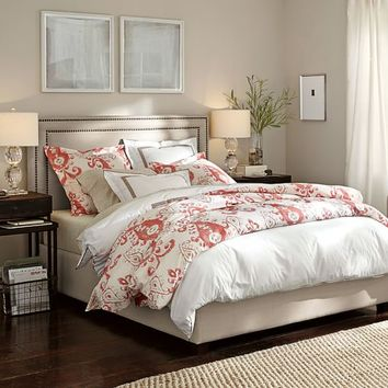 TAMSEN UPHOLSTERED SQUARE BED & HEADBOARD
