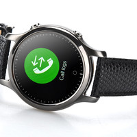 ZGPAX S360 Smart Watch - 1.22 Inch Circular Screen, Bluetooth 4.0, Sedentary Reminder, Phone Sync, App iOS + Android (Black)