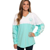 Southern Shirt Company V-Neck Hoodie in Ocean Blue 2J003-42