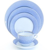 MOTTAHEDEH Cornflower Blue Lace Dinnerware Collection