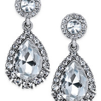 Charter Club Silver-Tone Crystal Drop Earrings, Created for Macy's - Jewelry & Watches - Macy's