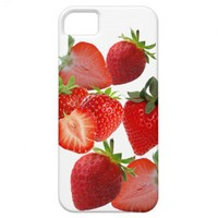 Strawberries and cream iPhone 5 case from Zazzle.com