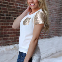 Golden Affair Top - White