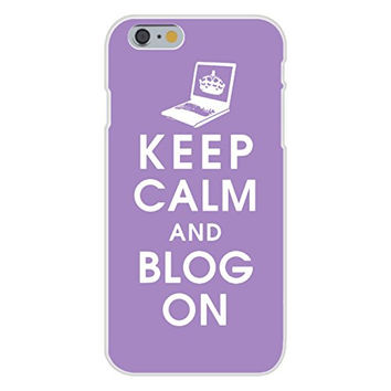 Apple iPhone 6 Custom Case White Plastic Snap On - Keep Calm and Blog On Notebook/Laptop
