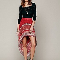 Free People  Rib and Lace Layering Top at Free People Clothing Boutique