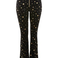 Star Velvet Flared Trousers - Clothing