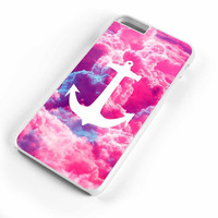 Girly Nautical Anchor Bright Pink Clouds Sky iPhone 6s Plus Case iPhone 6s Case iPhone 6 Plus Case iPhone 6 Case