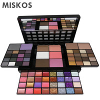 MISKOS 74 Colors Combination 36 Colors eyeshowed + 16 Colors Lipstick + 12 Glitter Creams + 4 Concealers +3 Blushers + 1 Contour