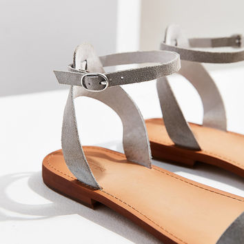 Suede Thin Strap Sandal   Urban Outfitters