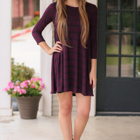 Swing Me Around Dress - Burgundy and Black