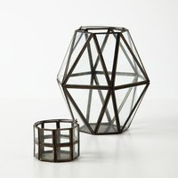 Framework Lantern by Anthropologie Grey