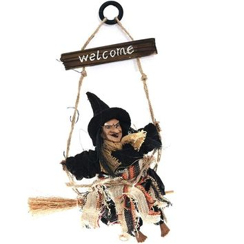 Halloween Decoration Horror Halloween Witch Broom Bar Party Decoration Witch Halloween Party Adornment