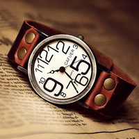 Man Woman Watch Leather Unisex