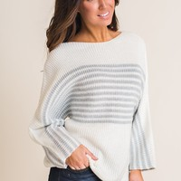 Careless Sparkly Sweater (Ivory)