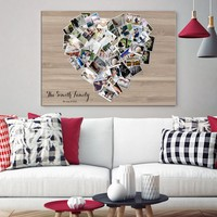 No Photo Limit Family Photo Print Wall Art Canvas Family Collage Custom Pictures Collage