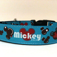 Mickey Mouse inspired Dog Collar 1""