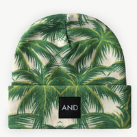 ANDCLOTHING — Tropical Palm AND Beanie  NEW