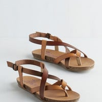 ModCloth Boho Everyday Nonchalance Sandal in Acorn