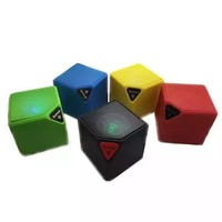 Bluetooth Portable Mini Qube Speaker High Quality with MP3 player LED Lights