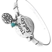 Gypsy Soul Silver Message Bangle