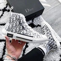 Dior B23 High Top Logo Oblique Shoes
