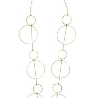 Halo Douze Hoop Long Necklace