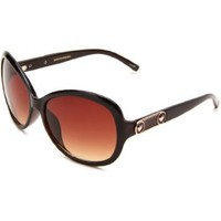 Union Bay Women`s U174 Oval Sunglasses,Brown Frame,Brown Gradient Lens,One Size