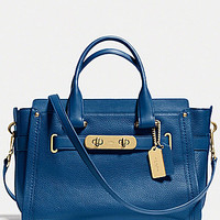 COACH SWAGGER CARRYALL IN NUBUCK PEBBLE LEATHER   Dillards.com