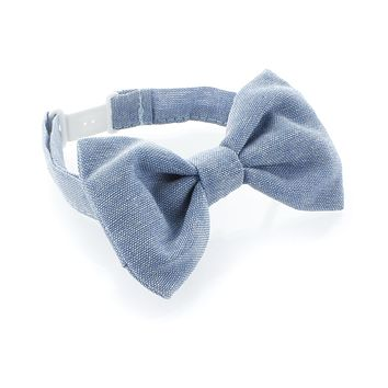 Baby Chambray Adjustable Pre-Tied Bow Tie