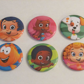 Bubble Guppies Magnet Set of 6 - Birthday Party Favors - Pinata Prizes - Bubble Guppies Birthday