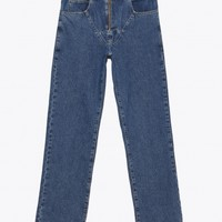 Martine Rose - Denim Jock Strap Jeans Indigo