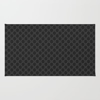 Gucci/GG Pattern Black Rug by lummat
