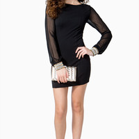 Billow Pearl Sleeve Bodycon Dress