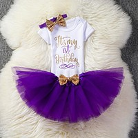 born Baby Girl Baptism clothes sets 1 2 Years Birthday Kids Outfits Girls Infant Clothing Sets Party Wear Suits 6 Months