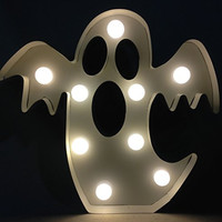Halloween Marquee LED Decorative Lighted Signs (Scary Ghost)
