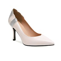 Women's Shoes High-heeled Shallow Super-fibre Pointed Toe Pumps