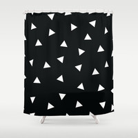 Shower Curtain - Black and White Shower Curtain - Geometric Shower Curtain - Black and White - Modern Shower Curtain - Geometric - Triangles
