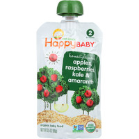 Organic - Homestyle Meals - 6+ Months - Apples, Raspberries, Kale and Amaranth - 3.5 oz - case of 16