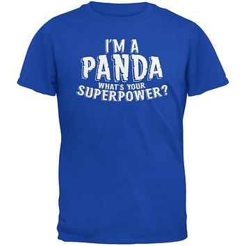 I'm A Panda What's Your Superpower Royal Adult T-Shirt