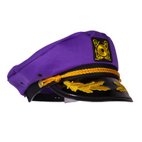Captain Ford's Loud Yellow Snapback Neon Captain Hat - Perfect for Parties