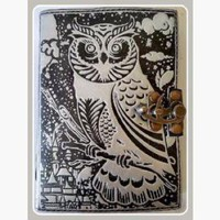 Wise Owl Leather Latched  Journal