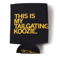 Tailgating Black Koozie