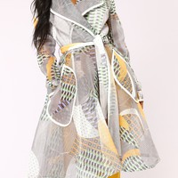 Star Gazing Mesh Jacket - White