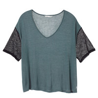 Mesh Detail V-neck Tee - Trend Tees - Victoria's Secret
