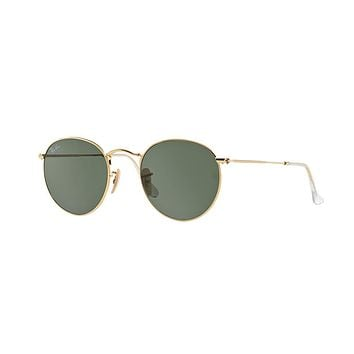 RAY-BAN RB 3447 001 50mm Gold Round Sunglasses