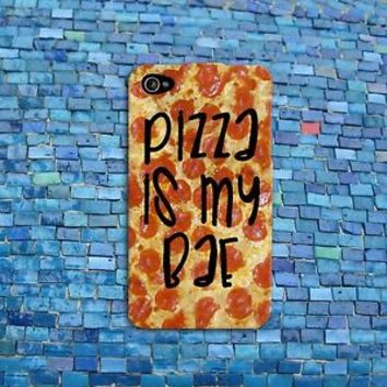 Funny Quote Cover Pizza is my Bae Cute Phone Case iPhone Cool Food Fun Girl Boy