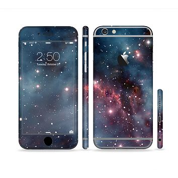 The Bright Pink Nebula Space Sectioned Skin Series for the Apple iPhone 6