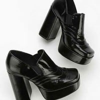Jeffrey Campbell Night Fever Platform Loafer- Black